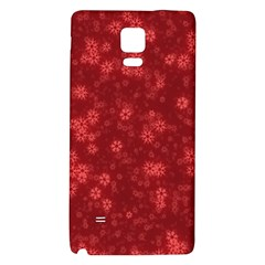 Snow Stars Red Galaxy Note 4 Back Case
