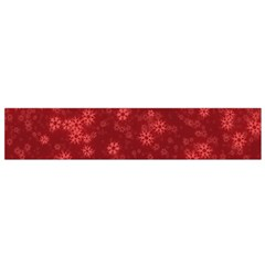 Snow Stars Red Flano Scarf (Small)