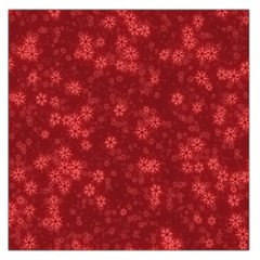 Snow Stars Red Large Satin Scarf (square)