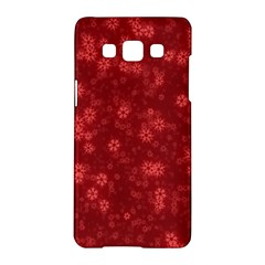 Snow Stars Red Samsung Galaxy A5 Hardshell Case
