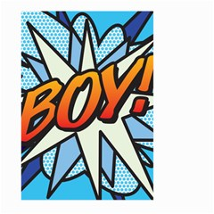 Comic Book Boy!  Large Garden Flag (Two Sides)