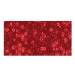 Snow Stars Red Satin Shawl