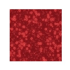 Snow Stars Red Small Satin Scarf (Square)