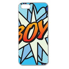 Comic Book Boy!  Apple Seamless iPhone 5 Case (Clear)