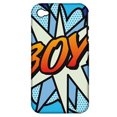 Comic Book Boy!  Apple iPhone 4/4S Hardshell Case (PC+Silicone)