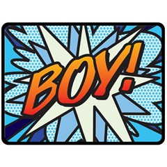 Comic Book Boy!  Double Sided Fleece Blanket (Large)