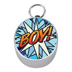 Comic Book Boy!  Mini Silver Compasses