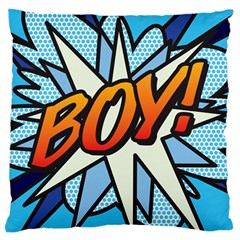 Comic Book Boy!  Large Flano Cushion Cases (One Side)