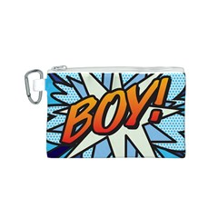 Comic Book Boy!  Canvas Cosmetic Bag (S)