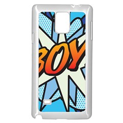 Comic Book Boy!  Samsung Galaxy Note 4 Case (White)
