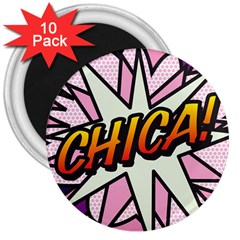 Comic Book Chica!  3  Magnets (10 pack)