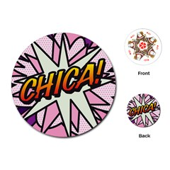Comic Book Chica!  Playing Cards (Round)