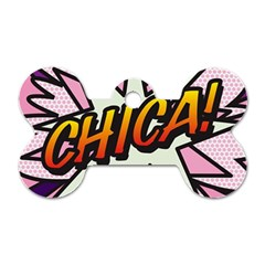 Comic Book Chica!  Dog Tag Bone (Two Sides)