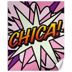 Comic Book Chica!  Canvas 11  x 14