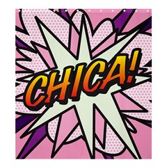 Comic Book Chica!  Shower Curtain 66  x 72  (Large)