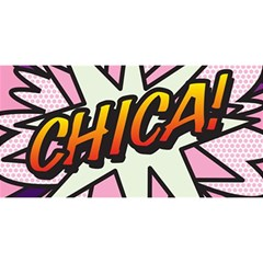 Comic Book Chica!  You Are Invited 3d Greeting Card (8x4)