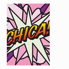 Comic Book Chica!  Small Garden Flag (two Sides)