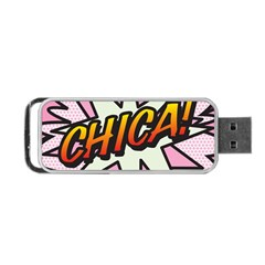 Comic Book Chica!  Portable USB Flash (One Side)