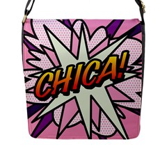 Comic Book Chica!  Flap Messenger Bag (L)