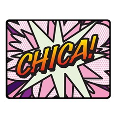 Comic Book Chica!  Double Sided Fleece Blanket (Small)