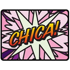 Comic Book Chica!  Double Sided Fleece Blanket (large)