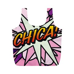 Comic Book Chica!  Full Print Recycle Bags (M)