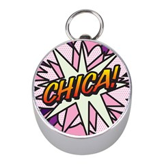 Comic Book Chica!  Mini Silver Compasses