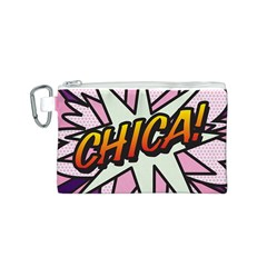 Comic Book Chica!  Canvas Cosmetic Bag (S)