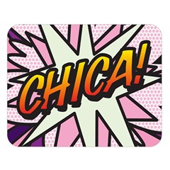 Comic Book Chica!  Double Sided Flano Blanket (Large)