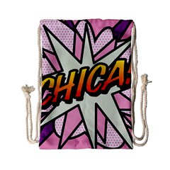 Comic Book Chica!  Drawstring Bag (Small)