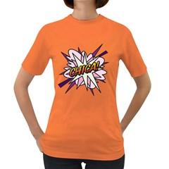 Comic Book Chica! Women s Dark T-Shirt