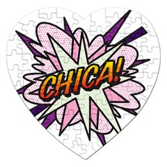 Comic Book Chica! Jigsaw Puzzle (Heart)