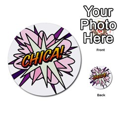 Comic Book Chica! Multi-purpose Cards (Round)