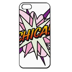 Comic Book Chica! Apple iPhone 5 Seamless Case (Black)