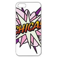 Comic Book Chica! Apple Seamless iPhone 5 Case (Clear)