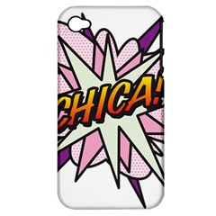 Comic Book Chica! Apple iPhone 4/4S Hardshell Case (PC+Silicone)