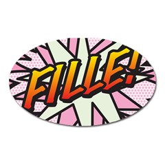 Comic Book Fille! Oval Magnet