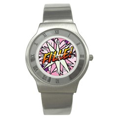Comic Book Fille! Stainless Steel Watches