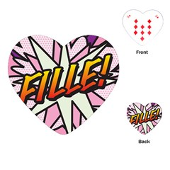 Comic Book Fille! Playing Cards (Heart)