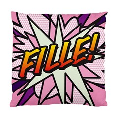 Comic Book Fille! Standard Cushion Cases (Two Sides)