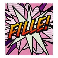 Comic Book Fille! Shower Curtain 66  x 72  (Large)