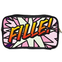 Comic Book Fille! Toiletries Bags 2-Side