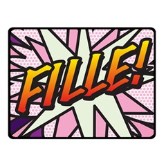 Comic Book Fille! Fleece Blanket (Small)