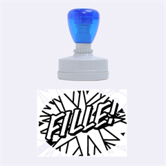 Comic Book Fille! Rubber Oval Stamps