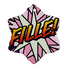 Comic Book Fille! Ornament (Snowflake)