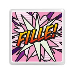 Comic Book Fille! Memory Card Reader (Square)