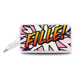 Comic Book Fille! Portable Speaker (White)
