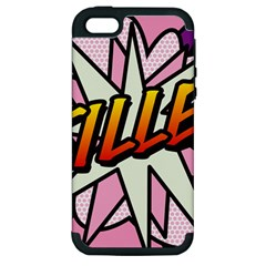 Comic Book Fille! Apple iPhone 5 Hardshell Case (PC+Silicone)