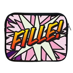 Comic Book Fille! Apple iPad 2/3/4 Zipper Cases
