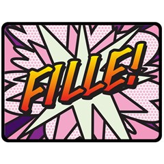 Comic Book Fille! Double Sided Fleece Blanket (Large)